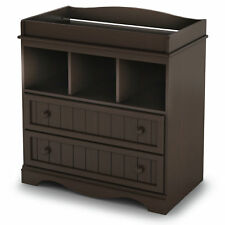 South Shore Savannah Changing Table With Drawers Espresso Brown