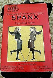 Spanx Reversible 2 Color Tights Sz D Black/Midnight  Style 005B NWT