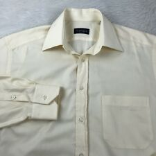 Canali Dress Shirt Men's Size 39 15-1/2 Cream Long Sleeve Made in Italy