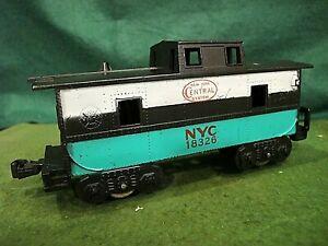 Marx O-ga - 18326  custom Caboose in green & black - complete - nice condition