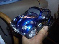 """Ancienne Grande Coccinelle VW Plastique """"Finely Car"""""""