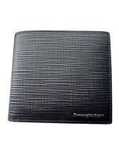 Zegna Black Textured Leather Billfold Wallet