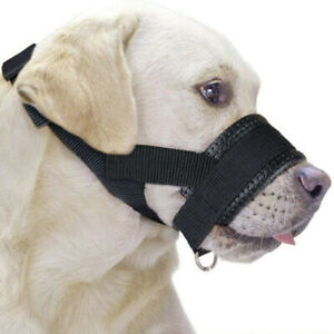 Dog Muzzle Nylon Adjustable Mask Anti Chewing Soft Mouth Muzzle Grooming