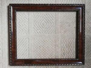 Vintage Antique wood & plaster picture frame gilt clover design decorative arts