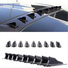 9pcs Car SUV EVO Style Shark Fins Spoiler Wing Kit Vortex Generator Universal