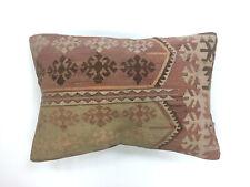 Vintage Turkish Kilim Cushion Cover Kelim Pillow 60x40 cm Moroccan style