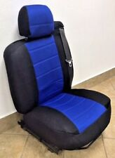 Black/Blue Mesh Fabric Customized seat covers Fit's 00-06 Chevy Suburban.