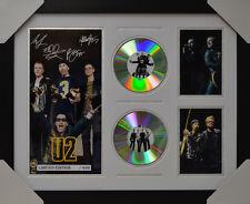 U2 SIGNED MEMORABILIA FRAMED 2 CD LIMITED EDITION V1 2016 #C
