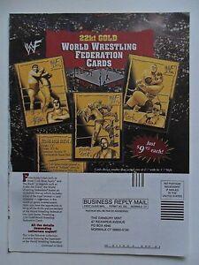 2000 Print Ad World Wrestling Federation WWF 22kt Gold Cards