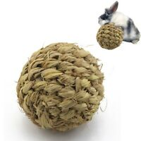 Pet Chew Toy Natural Grass Ball with Bell for Rabbit Hamster Guinea Pig TootO3O2