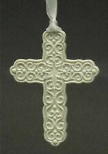 """Wedgwood China 3 3/4"""" Cross Ornament - Discontinued!"""