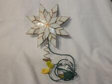 Vintage Christmas Electrified Fancy Tree Top Star Santa's World By Kurt S. Adler