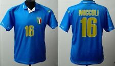 MONDO REPLICA  ITALIA  MAGLIA 2004 EUROPEI QUALIFICHE F. MICCOLI 16 TG. S