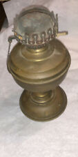 Antique Brass Color Oil Lamp W Burner Eclipse Hang Tag As Found!
