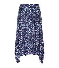 Viscose Regular Size Asymmetrical Skirts for Women