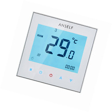 Anself Weekly Programmable Touch Screen Thermostat Room Temperature Controller