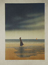 Daniel SCIORA - Estampe originale - Lithographie - La Plage