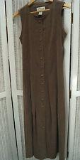 ORVIS Vintage Pinafore Dress M 36″ Bust Camel Full-Length Tan Maxi Jumper Dress