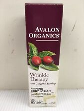 Avalon Organics Wrinkle Therapy with CoQ10 Firming Body Lotion - DAMAGED BOX