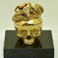 Antique Breguet a Paris Verge CALENDAR Fusee Memento Mori Skull&Snake desk clock