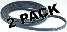 2 Pk, Lb341241 - Lobright Dryer Belt for Whirlpool, Sears, Ap2946843, Ps346995
