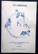 More details for australian shepherd club of america 1978 - 1982 aussie dog breed asca yearbook