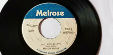 "FREDDIE MCKAY -  ALL I NEED IS LOVE KILLER /REGGAE 45""  on MELROSE   LABEL"