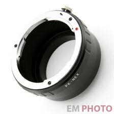 Pentax K Adapter an Sony E Mount Alpha A-7II A-6300 A-5100 NEX E-Bajonett Z-0604