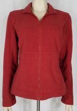 BMW light red vull zip embroidered logo lightweight fleece jacket ladies Medium