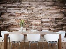 Modern Stone Brick  Photo Wallpaper Wall Mural DECOR Paper Poster Free Paste