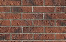 BRICK SLIPS CLADDING WALL TILES FLEXIBLE - 1 Sqm ( m2 ) - DARK BRICK