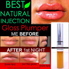 NATURAL INJECTION LIP PLUMPING HERBAL REBUILDING LIP PLUMPER GLOSS THAT WORKS