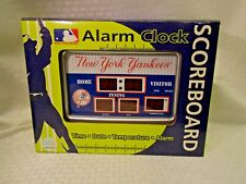 NY Yankees Scoreboard Desk & Alarm Clock Baseball MLB