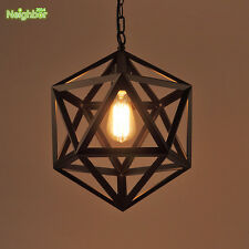 RH Loft Hexahedral Pendant Light Suspension Chandelier Hanging Lamp Edison Bulbs
