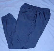 REEBOK Navy Lined Sport Athletic Track Basketball Pants Size LARGE