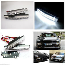 2 x 8LED DRL Car Driving Fog Daytime Running Lamps Bright White Lights For Ford