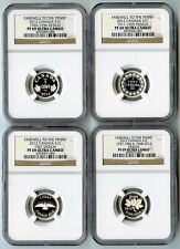 """2012 CANADA NGC PF69 UCAM """"FAREWELL TO THE PENNY"""" 4 COIN SILVER 1 CENT SET!"""