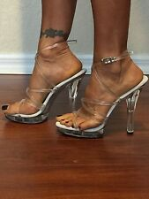 Pleaser Clear 5 inch heels sexy shoes size 7
