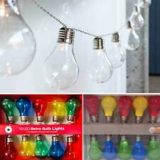 Festoon Party Globe String Lights 10 LED Edison Bulb Battery Operated