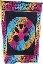 "Mandala Tree of Life Tie Dye Tapestry 54 x 86"" Wiccan Pagan Altar Supply WTMTR"
