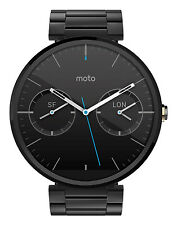 Motorola Moto 360 46mm Stainless Steel Case Black Link Bracelet(Unlocked) -...