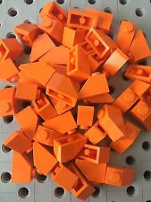 Lego 1x2 Orange Slopes Roof Tile 1x2/45° Bricks 1x2 Lot Of 48
