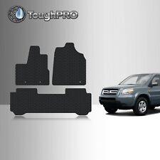 Toughpro Floor Mats Black For Honda Pilot All Weather Custom Fit 2003 2005 Fits 2003 Honda Pilot