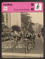 TOUR OF LOMBARDY Cycling De Vlaeminck Thevenet Panizza 1978 SPORTSCASTER CARD