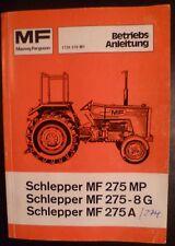 Massey Ferguson Schlepper MF 275 Bedienungsanleitung