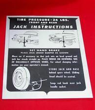 1956 Cadillac Jack Instructions Instruction Sheet 56