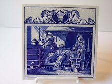 Delft Blue Holland Pill Tile The Pharmacist's Laboratory Unicorn Porcelain #II
