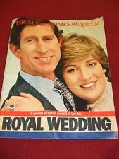 SUNDAY TIMES MAGAZINE - CHARLES & DI ROYAL WEDDING - AUG 2 1981