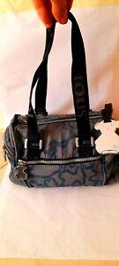 Original Authentic  Women TOUS Kaos Blue Mini Duffle Purse Hand Bag Bear Lable