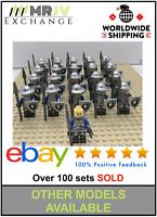 21 Minifigures Medieval Knights Blue Lion Castle Kindom Toys Block Custom UK